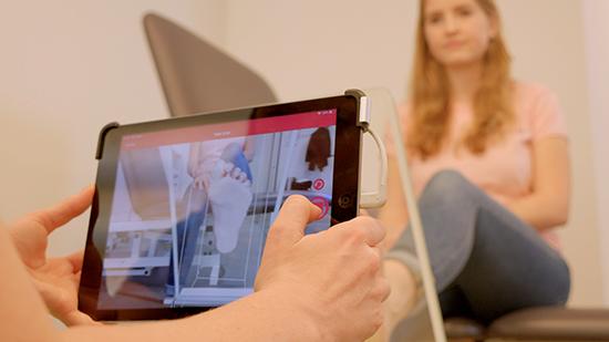 iPad 3D Scan Steunzolen Aanmeten