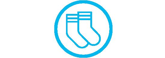 Draag naadloze sokken